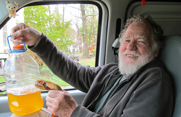 charley plymell in the boat w/watt's piss jug on october 19, 2012