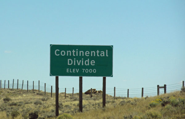 crossing the continental divide in wyoming on the I-80 on september 24, 2014