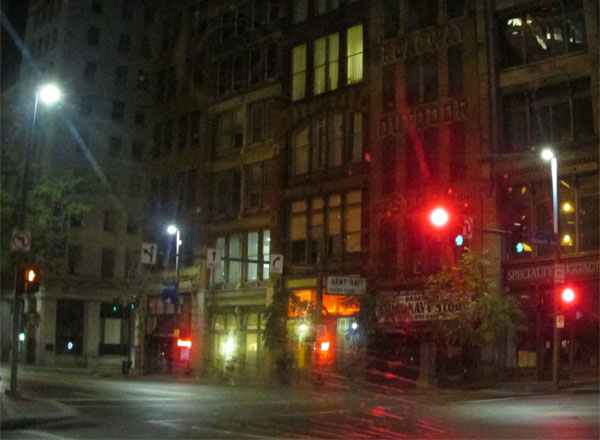 driving in downtown pittsburgh on october 8, 2014