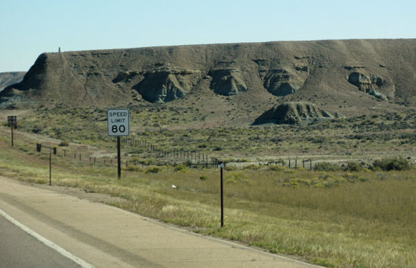 heading east through wyoming on the I-80 on september 24, 2014