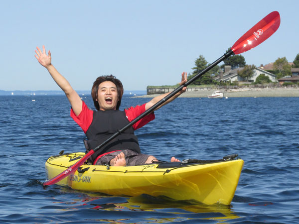 brother jun paddling in pugent sound on september 21, 2014