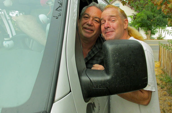 mike watt + bart bell (l to r) in boise, id on september 23, 2014