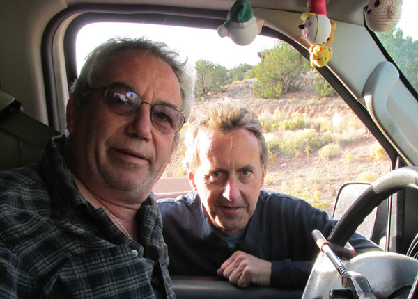 mike watt + bob stires in placitas, nm on november 1, 2014