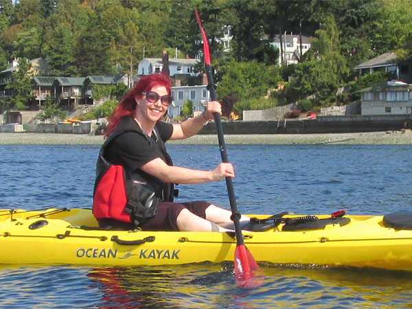 sandy glaze paddling in pugent sound on september 21, 2014