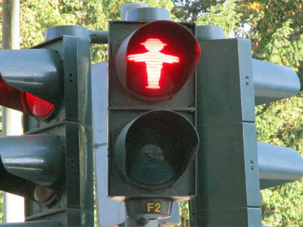 'ampelmann' in berlin, germany on september 24, 2016