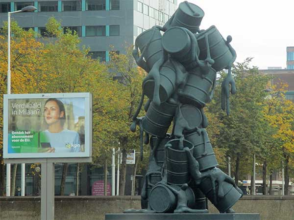 billboard + public art in rotterdam, netherlands on october 30, 2016