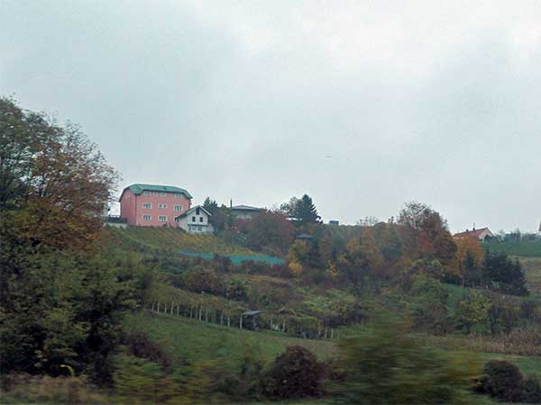 some croatian countryside on the way to austria on october 20, 2016