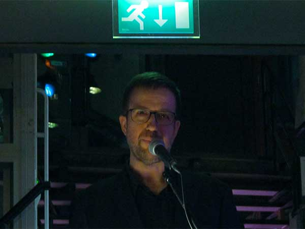 john doran reading at 'the quietus festival' at worm in rotterdam, netherlands on october 29, 2016