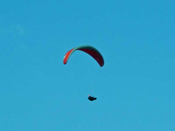 paraglider near brno, czech republic on october 23