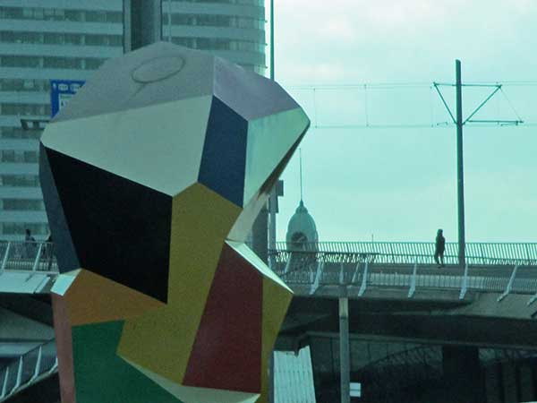 public art in rotterdam, netherlands on october 29, 2016