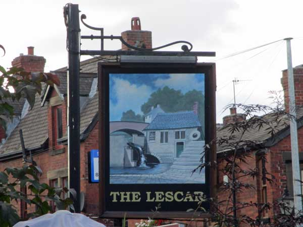 sign for the lescar in sheffield, england on october 2, 2016