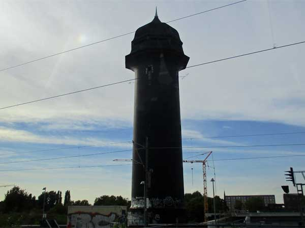 'wasserturm ostkreuz' in berlin, germany on september 22, 2016