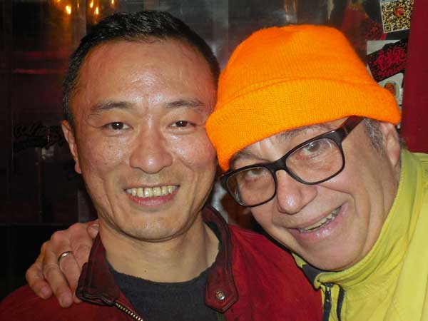 lao lu + mike watt (l to r) at yyt in shanghai on march 26, 2017