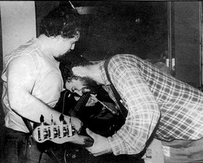 d. boon + mike watt of the minutemen in 1985
