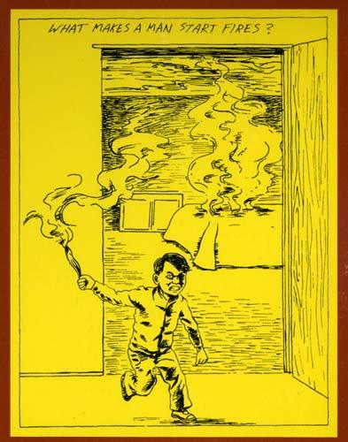 raymond pettibon art for cover of the minutemen's