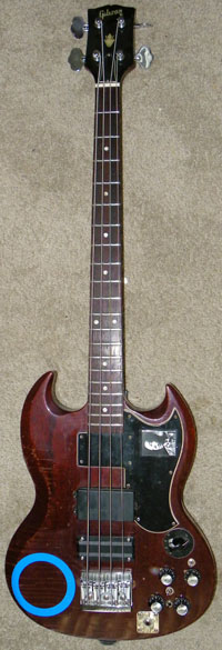 1969 gibson eb-3 'the andy bass'