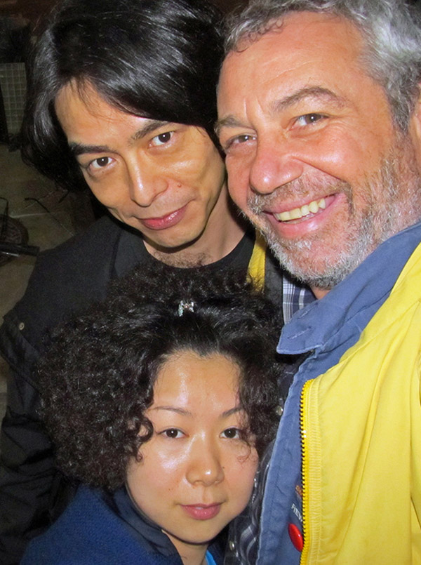 mr shimmy + ms yuko + mike-san in nyc on april 4, 2011