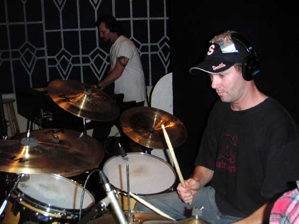 pete + jer in the studio