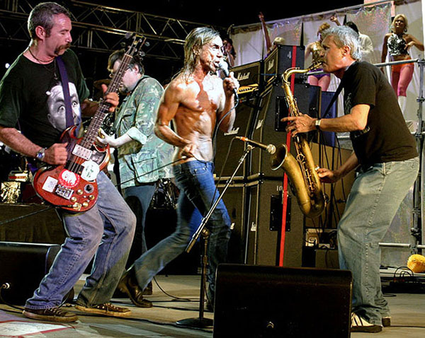 mike watt w/the stooges on randall's island, ny on august 14, 2004 by peter whitfield