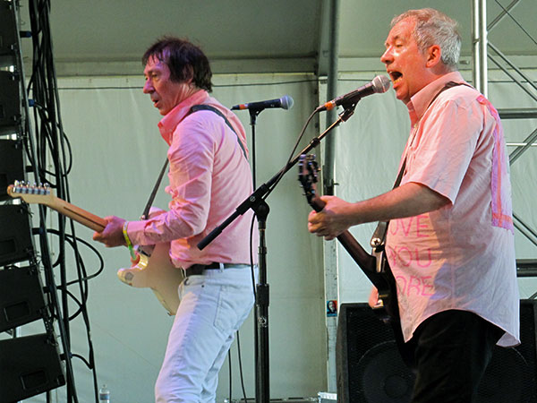 steve diggle and pete shelley (lft to rt) of the buzzcocks at the coachella festival on april 21, 2012