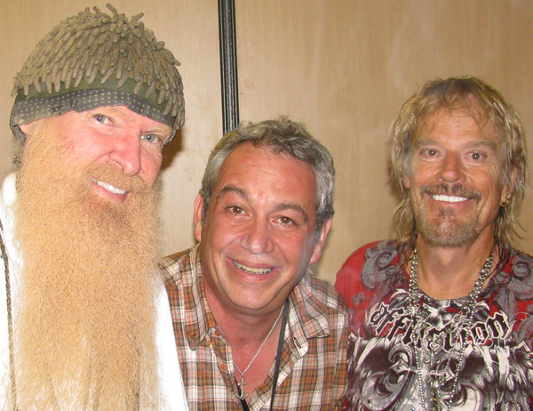 billy gibbons, watt + frank beard (l to r) in monaco - july 5, 2010