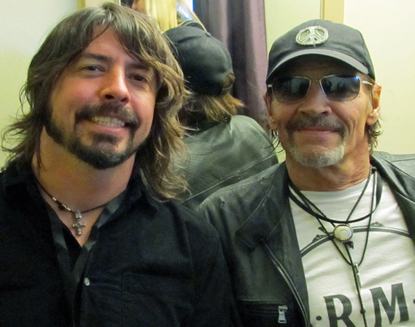 dave grohl + scott asheton on the isle of wight on june 11, 2011