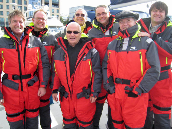 (left to right) jos, max, henry w/watt behind him, eric, larry and derek in bodo, norway on august 19, 2011
