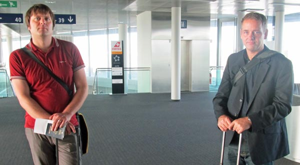 derek see and eric fischer at basel europeairport  on august 9, 2012