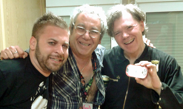 gabor ilkei, mike watt + larry mullins in sopron, hungary right after stooges gig at volt festival on june 30, 2012