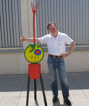 larry mullins at the joan miro museum in barcelona on july 10, 2012