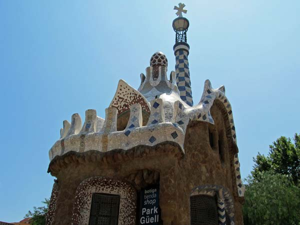 park guell  on july 6, 2012