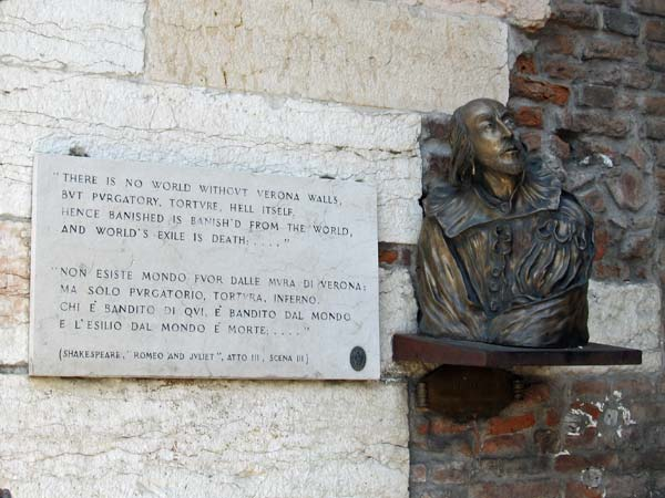 shakespeare tribute in verona, italy on july 27, 2012