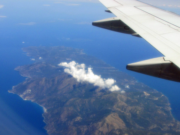 flying over corsica on way to rome - july 1, 2013