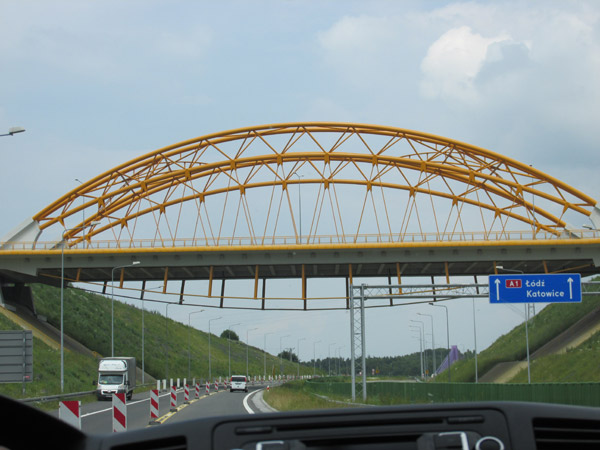 on the way from ostrava, czeh to katowice, poland - june 23, 2013