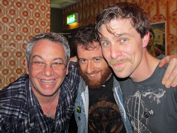 mike watt + stefano pilia + andrea belfi (l to r) in dublin, ireland - june 16, 2013