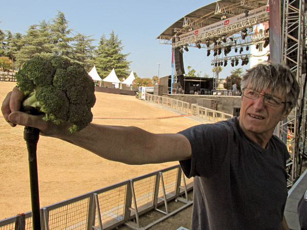 jos at sound check at chateau valmy in france - july 9, 2013
