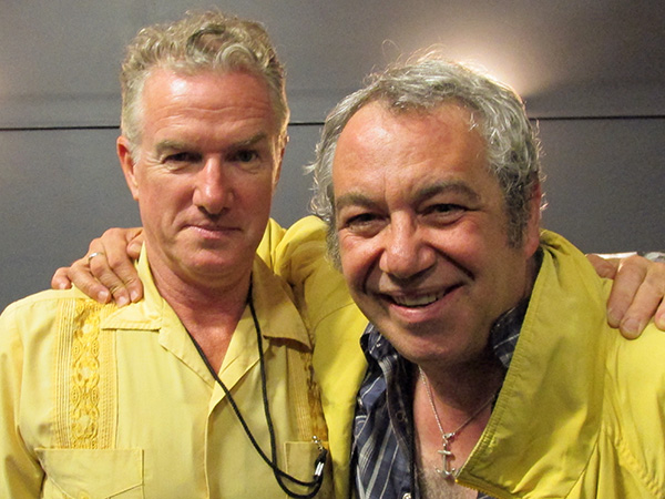 mick harvey + mike watt (l to r) in melbourne, australia on march 27, 2013