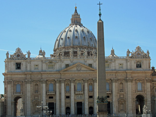 saint peter's basilica, the vatican - july 3, 2013