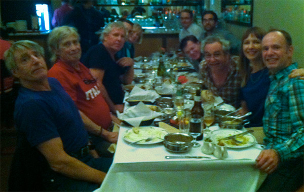 stooges + crew minus ig + henry at restaurant called 'amber' in mountain view on september 28, 2013