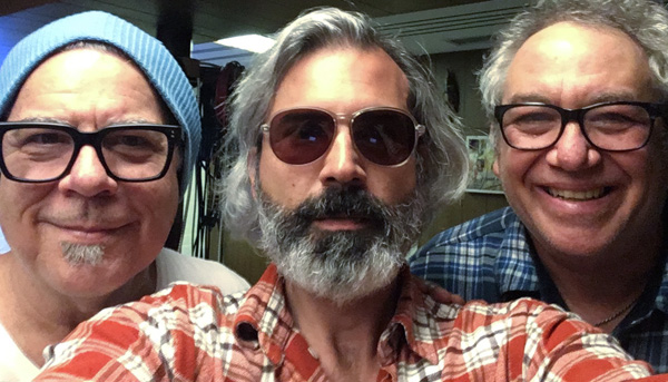 left to right: stephen hodges, mike baggetta and mike watt on march 19, 2019 photo by mike baggetta