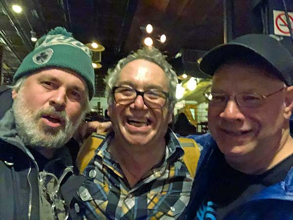 john moloney + murph + watt (l to r) at 'the iron horse music hall' in northanmpton, ma on march 27, 2019. photo by john moloney