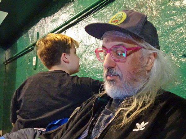 rory mascis + his pop j mascis downstairs at 'the iron horse music hall' in northanmpton, ma on march 27, 2019