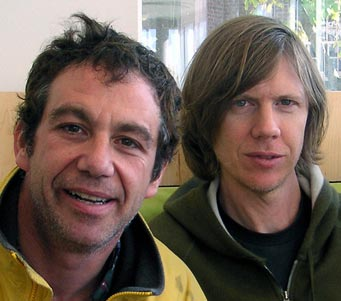 shot of watt and thurston moore in 2004