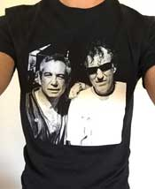 'two cats from the old days' black tshirt w/raymond pettibon and mike watt